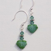 Leaf Bead Earrings